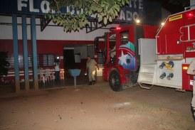 Sorriso: Fiação elétrica de ginásio deesportes pega fogo e mobiliza bombeiros